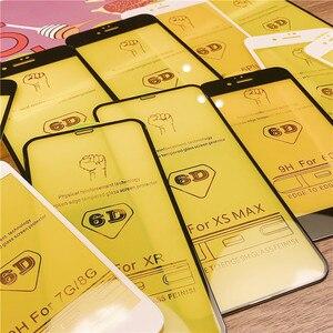 Image 2 - 6D tam kapak temperli cam iPhone 11 Pro 8 7 6 6S artı X XS MAX iphone 7 8x12 Pro Mini ekran koruyucu koruyucu cam