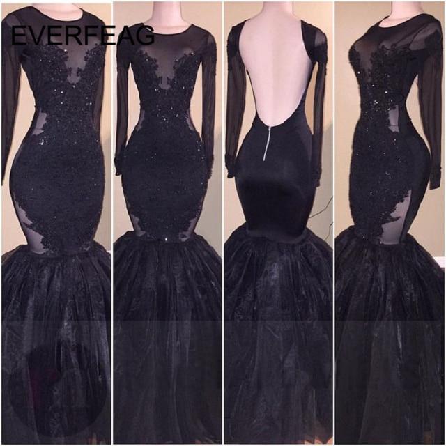 Black Mermaid Formal Dress