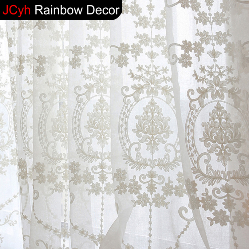 white lace curtains for short kitchen <font><b>blinds</b></font> Voile curtains embroidery cortinas door short flower tulle curtains for living room