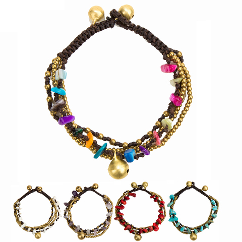 Женский браслет amourjoux из 4 слоёв золотого цвета с цепочкой