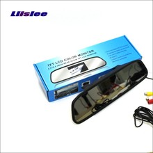 Liislee For Volvo S40 S40L V40 V50 Rearview Mirror Car Monitor Screen Display / 4.3 inch / HD TFT LCD NTSC PAL Color TV System