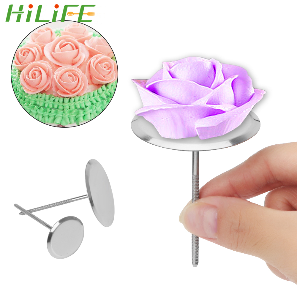 Flower Nail Cake: HILIFE Baking Piping Stands Tools Stainless Steel Piping