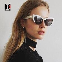 SHAUNA Fashion Half Frame Women Cat Eye Sunglasses Brand Designer Classic Ladies Tinted/Clear Glasses UV400