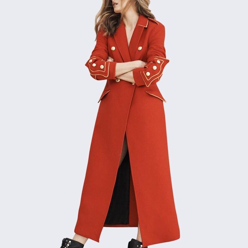 Gloria Lady Office Manteau Xl Et Conception Originale Rouge Haute down Hiver Turn Cheville 2019 Couture Laine Survêtement Longueur Collar Grâce x7wBtA