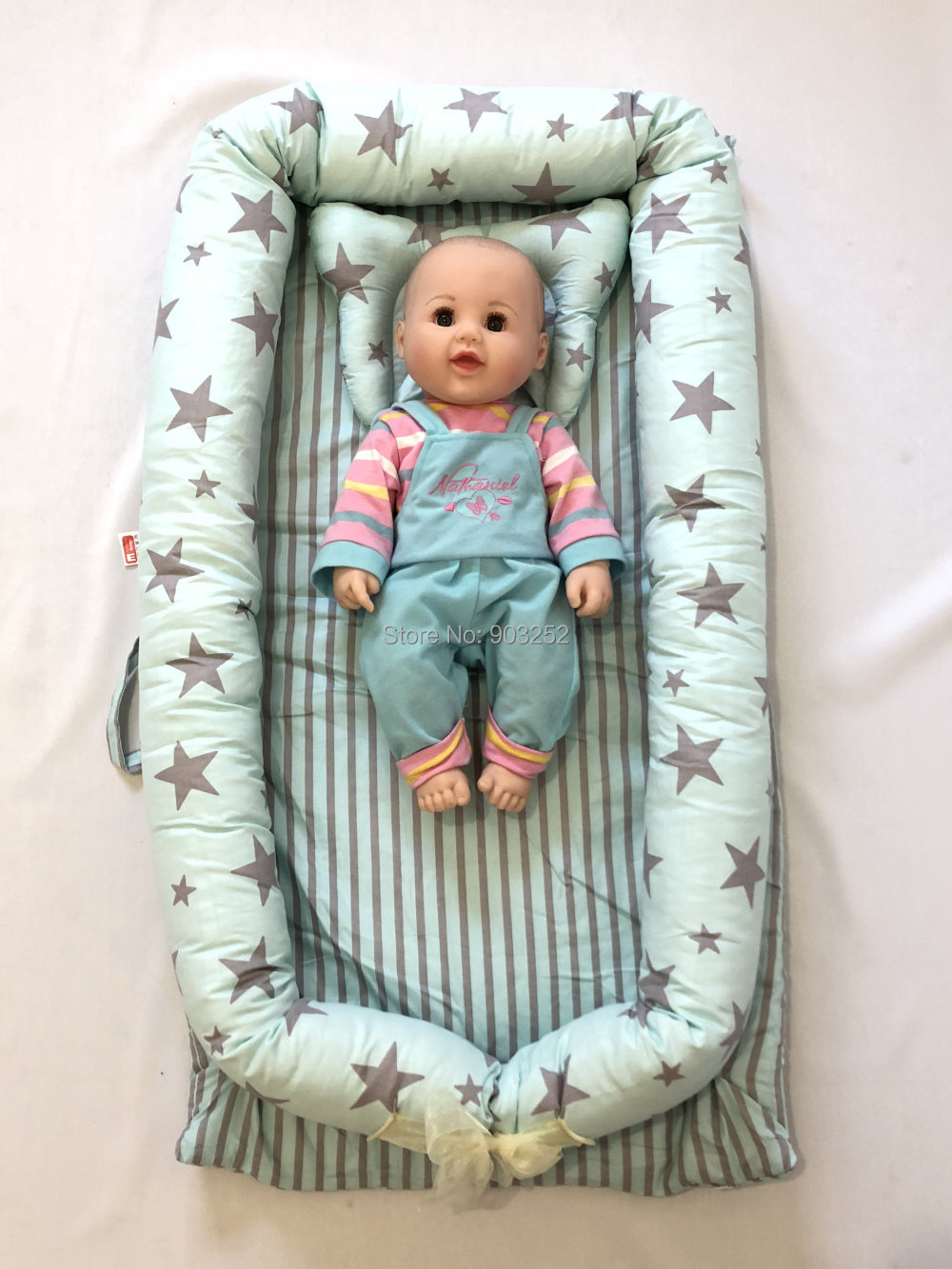 Baby Nest Bed With Pillow,baby Bed,snuggle Nest.Co-sleeper,baby Travel Bed,baby Cocoon,toddler Bed,baby Sleeping