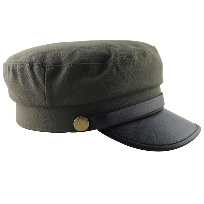 AUBREYRENE 2018 moda nuevo Otoño Invierno hebilla de Color brillante sombrero  militar Rosa ejército gorras plana 77bfa3c2f0b