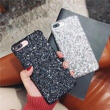 JMY-a Fa & iacute; блеск для телефона для iphone X 8 7 6 s 6 s Plus 5 5S; SI Lantejoulas tampa Do diamante para o iphone 7