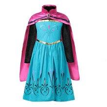 58865a8d62f MQATZ девушка платье Эльзы для коронации до одежда обувь для девочек летние  цветок хлопок Снежная королева