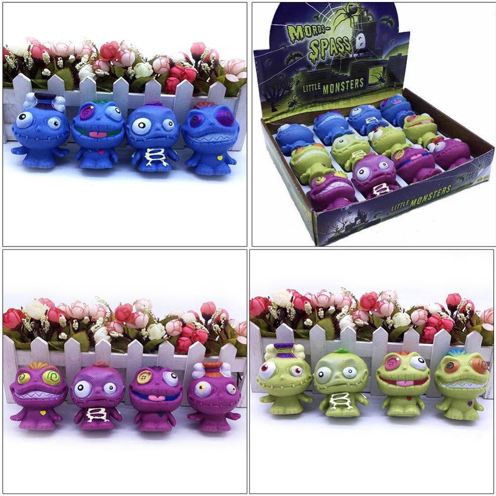 12pcs/box Funny Spoof Doll Toy Innovative Stress Relief Squeeze Toy Squish Toy For Kids Adult Gift