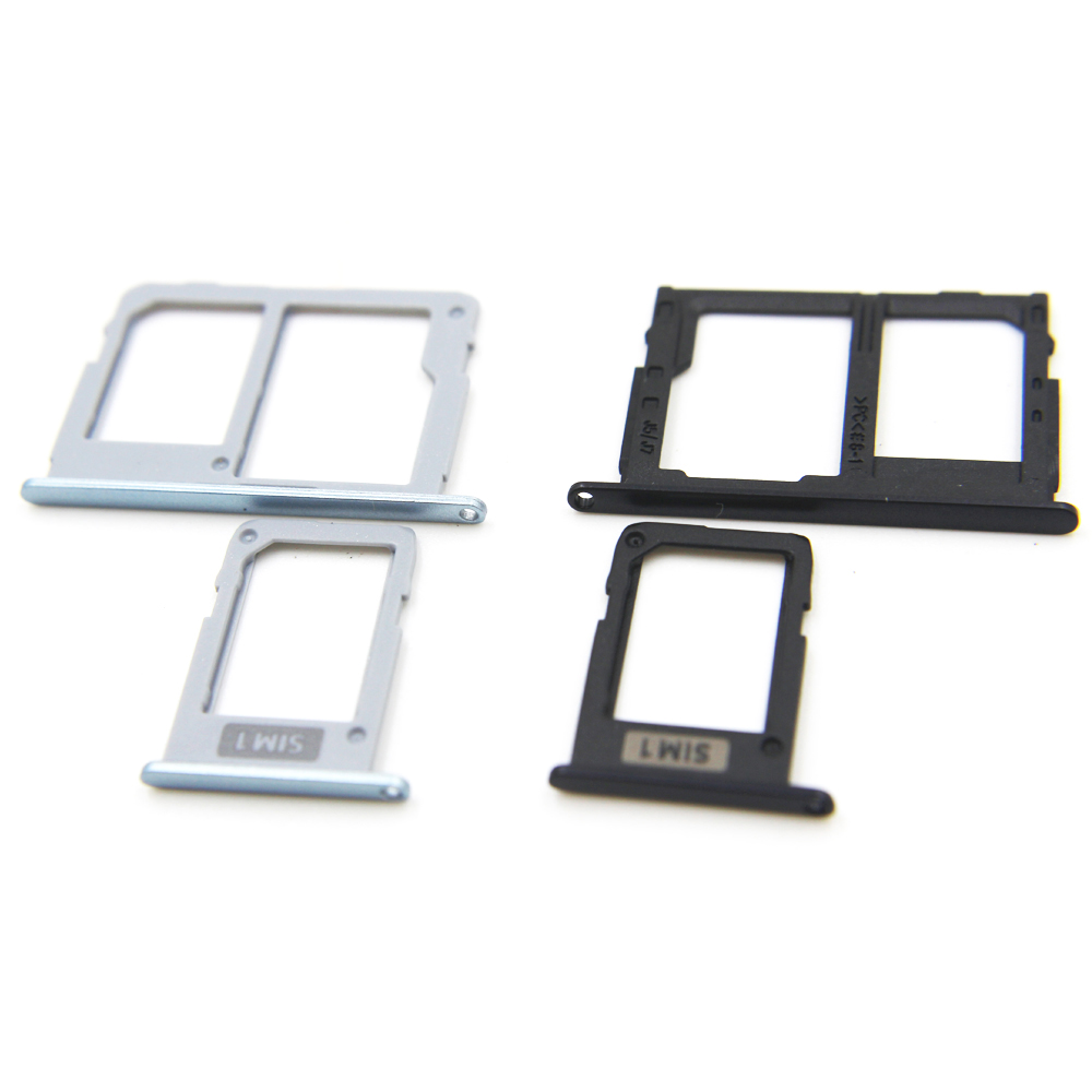 1 set SIM + SIM / Micro SD Card Tray Slots Part (2 pcs) for Samsung Galaxy J3 J5 J7 2017 pro/J330F J530F J730F SIM Card Tray