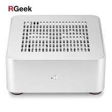 [トップカバー穴] rgeekミニitxコンピュータpcケースデスクトップhtpcアルミケースシャーシミニpcケースと 200 ワット電源