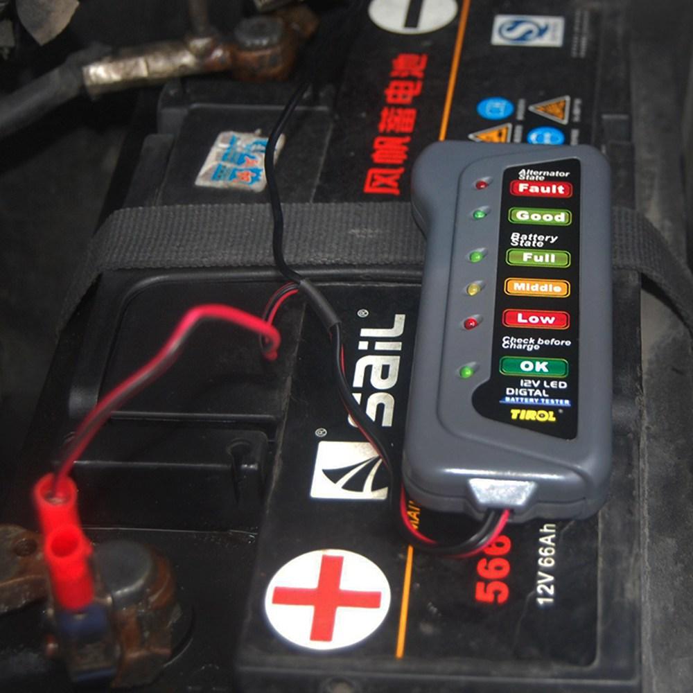 12V Led Car Battery Tester Diagnostic-tool Automobile Battery Test Diagnostic Tool Accessories For BMW e34 e46 e90 Mercedes w210