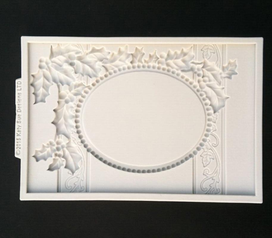 wholesale 10 pcslot christmas series frame silicone sugarcraft moulds fondant cake decorating tools