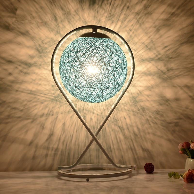 220v EU plug table lamp Rattan Ball design Takraw night light for Bedroom Bedside living room indoor lighting Diameter 20cm 4 pcs pastoralism home indoor outdoor rattan sofa for living room