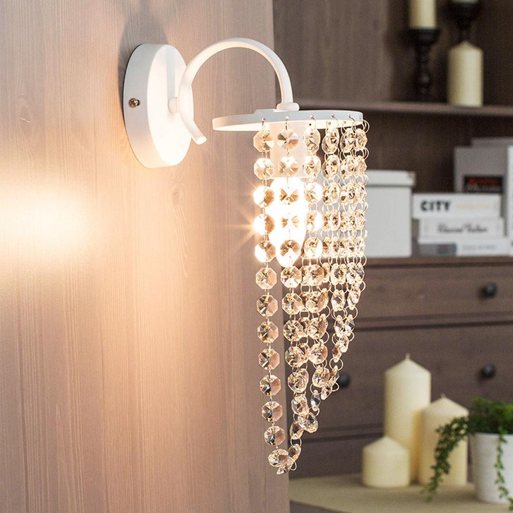 Crystal Bathroom Light - Hghomeart fashion crystal led wall lamp wall mount light bathroom fixtures loft bedroom night lamp corridor lighting decoration