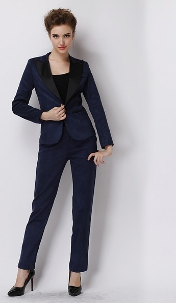 Popular Womens Business Suits Navy-Buy Cheap Womens Business Suits ...