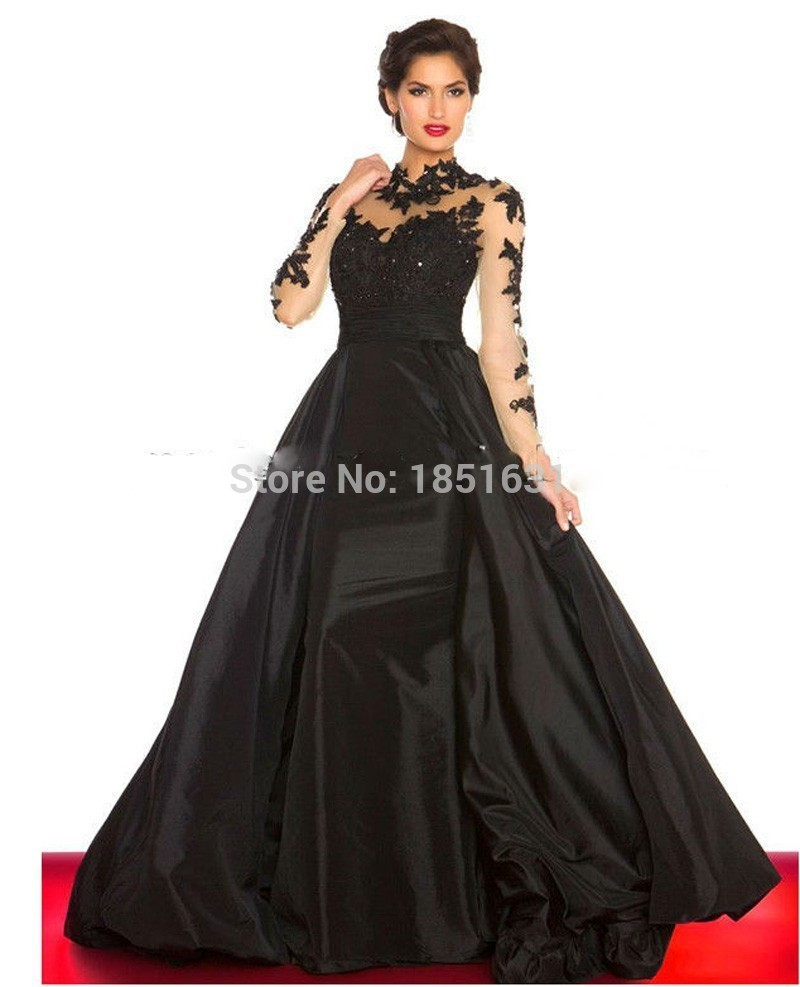 Attractive Black And Red Evening Gowns Pattern - Ball Gown Wedding ...