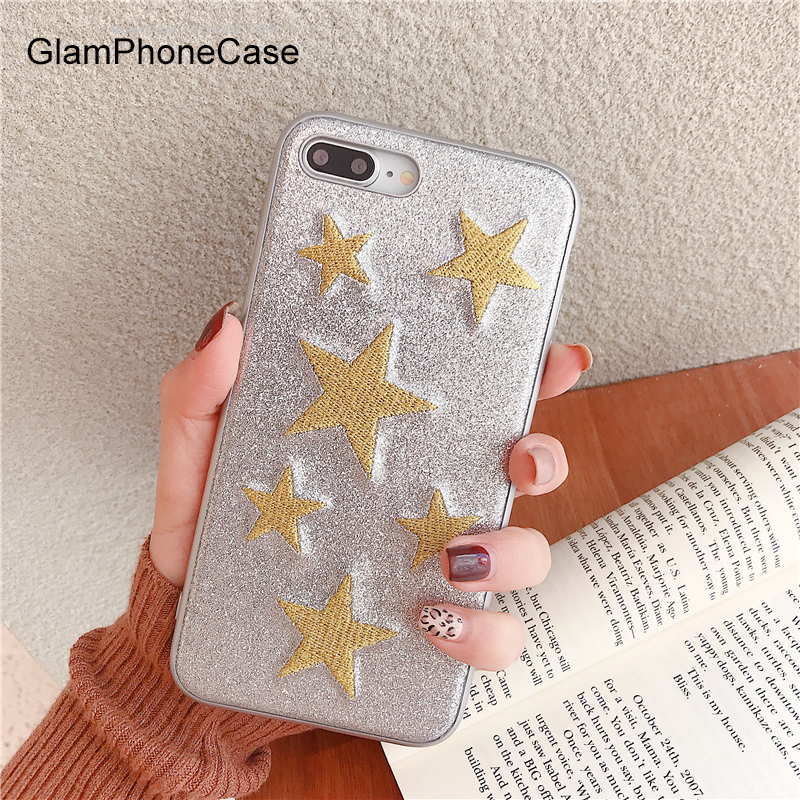 GlamPhoneCase Glitter Stickerei Liebe Herd Telefon Fall Für iphone XS Max XR XS 8 8 plus 7 7 plus 6 s 6 Splus 6 6 plus Mode Abdeckung