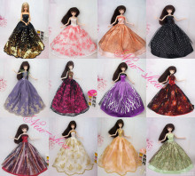 30 Items Handmade Gorgeous Top Grade Dresses Accessorise Hangers Shoes Satins Doll Clothing For Barbie Kurhn