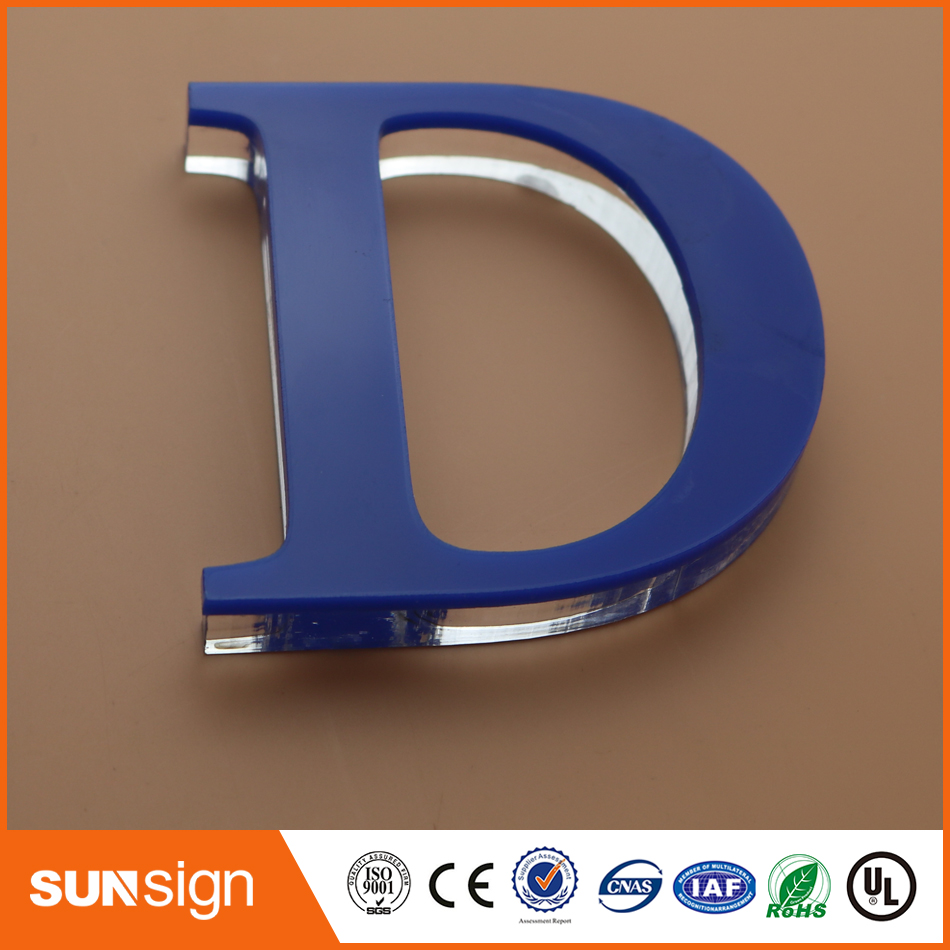 Advertising Green Plexiglass Letters Sign Board Plastic Letters