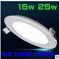 HOT! NOWY PRZYJEŻDŻA 25 w 15 W Wpuszczone Oświetlenie Sufitowe Led Ultra cienki panel Light led Dół Światła