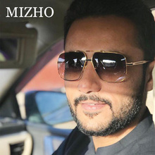 MIZHO Fashion Retro Cool Brand BLACK Men Sunglasses Polarized Big Mirror Lens Male Shield Sun Glasses Driving Oculos de sol