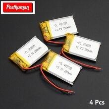 Postuman полимерная литиевая батарея 3,7 V 402030 042030 200mah перезаряжаемые батареи для MP3 MP4 часы игрушка сотовый телефон gps