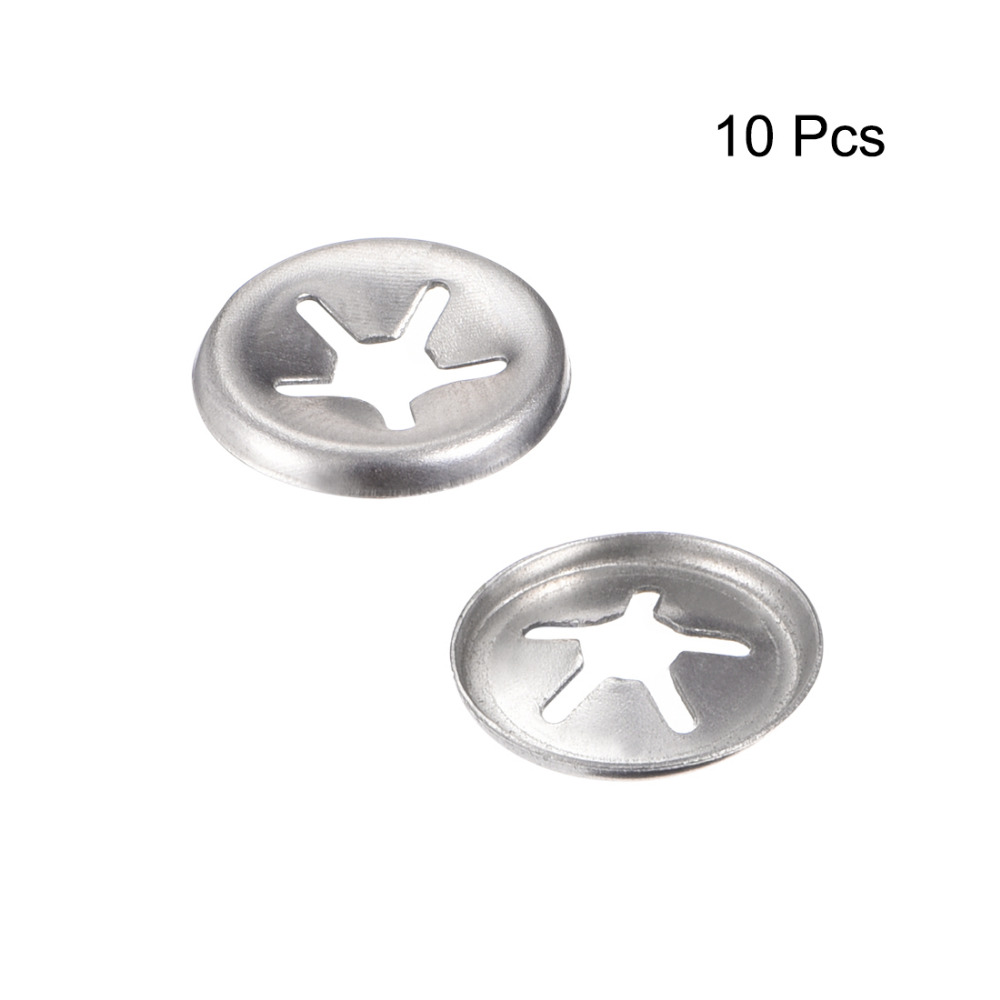 Stainless Steel Push On Lock Washer Locking Washers Clips Fastener 12mm Inner Dia 24.5mm Outer Dia 100pcs uxcell M12 Internal Tooth Starlock Washer