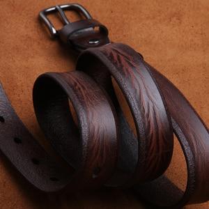 Image 2 - LANSPACE العلامة التجارية اليدوية الرجال أحزمة جلدية بالجملة سليم الترفيه حزام البنطال الجينز 2.7