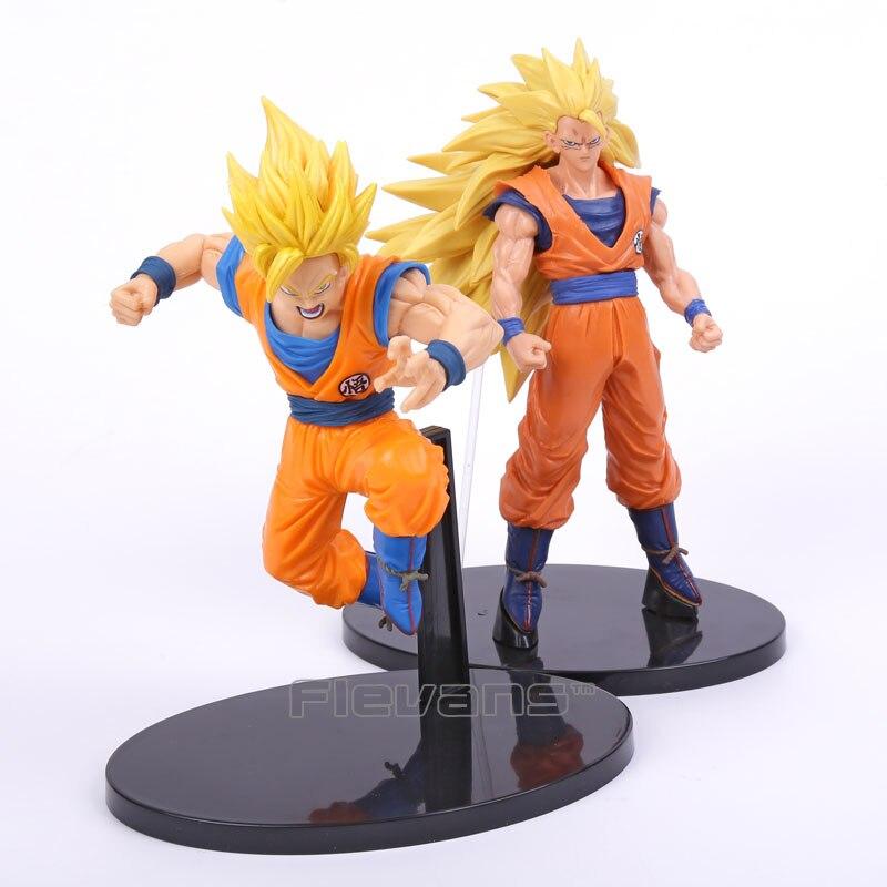 все цены на  SCultures BIG Dragon Ball Z Super Saiyan 2 / 3 Son Goku Son Sokou PVC Figure Collectible Model Toy Boxed  онлайн