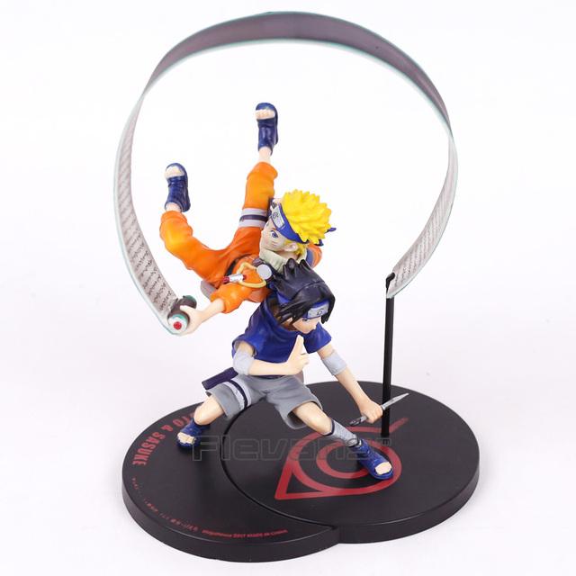 Uzumaki Naruto & Uchiha Sasuke Painted Figure Toy