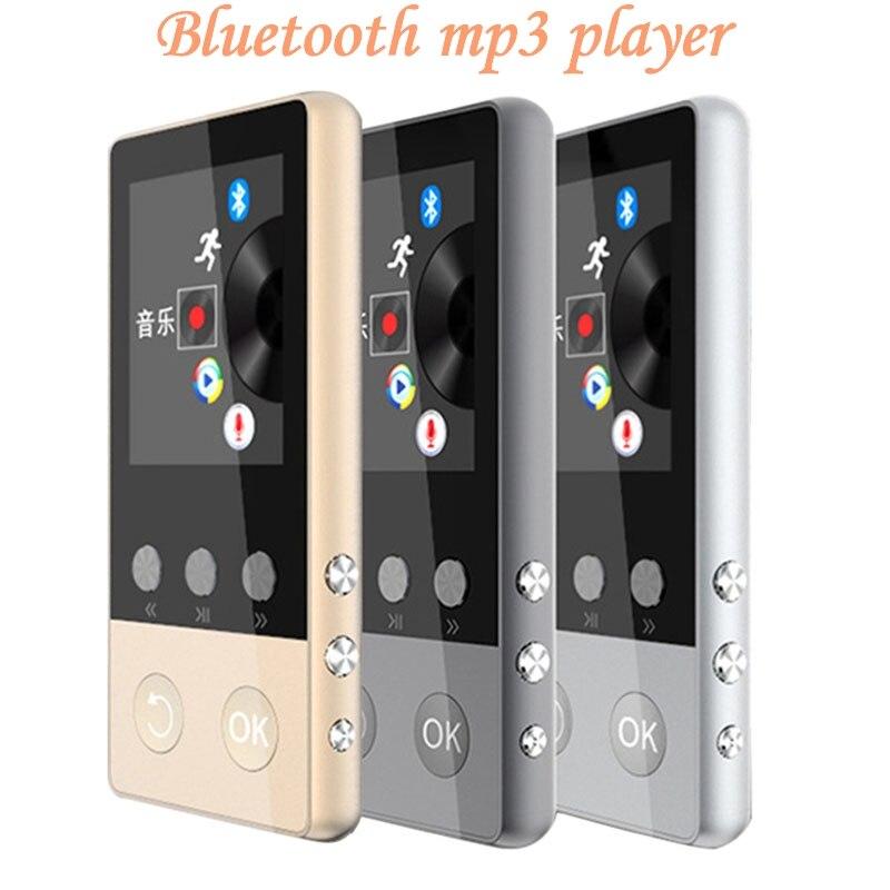 הכי חדש מתכת MP4 נגן עם Bluetooth 8 gb 2.0 inch מסך לשחק 80 שעות יכול לתמוך 64 gb SD כרטיס עם רדיו FM מקליט קול