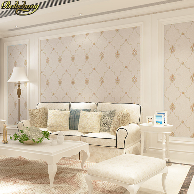 beibehang Height 2.8M European embroidery seamless wall cloth wallpaper for walls 3 d living room mural wall papers home decor beibehang embroidery wallpaper european