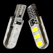 2 Pcs T10 192 W5W 6 SMD 5630 LED Silica Gel Tahan Air Wedge 6SMD 5730 Silikon Mobil Parkir Cahaya auto Clearance Lampu 12V(China)