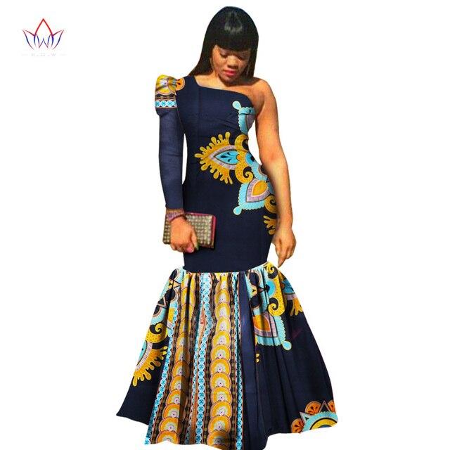 1f038e6d74383 Africano ropa para las mujeres moda Vestidos Africana Bazin Riche vestido  para las mujeres de impresión