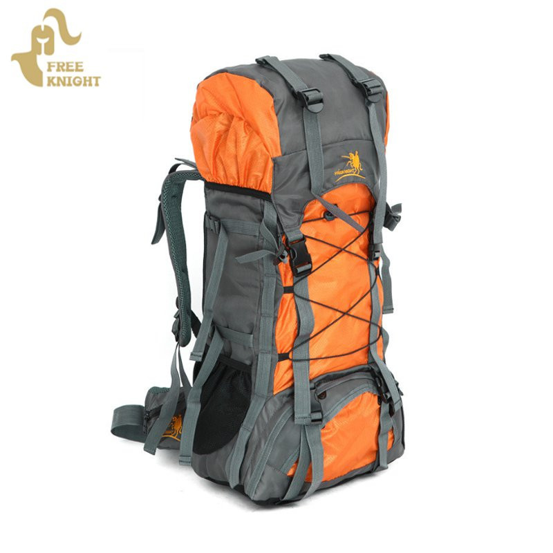 ФОТО Free Knight 60L extra large Waterproof Nylon Outdoor Sports Professional Climbing Hiking mountianeering Backpack Travel Bags