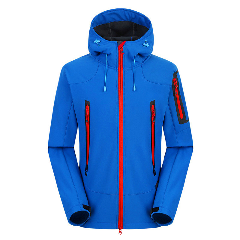 Hot Sale Sport Outdoor Windproof Softshell Waterproof Warm Camping Fishing Adult Male Clothing Polyester Hiking Jacket