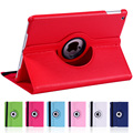 for Apple iPad Air 2 Tablet Case 360 Degree Rotating Solid PU Leather Stand Flip Folio for ipad 6 Protective Cover + film +Pen