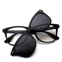 Logorela 2208 Polarized Night Vision Sunshades Tr-90 Plastic Super Light Glasses Frame with Magnetic Polarize Sunglasses 5 Clips