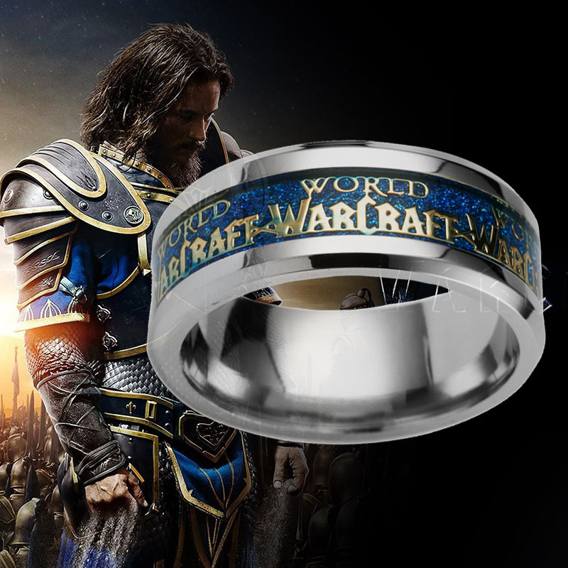 2016 new World of Warcraft stainless steel ring wholesale World of Warcraft movie game ring
