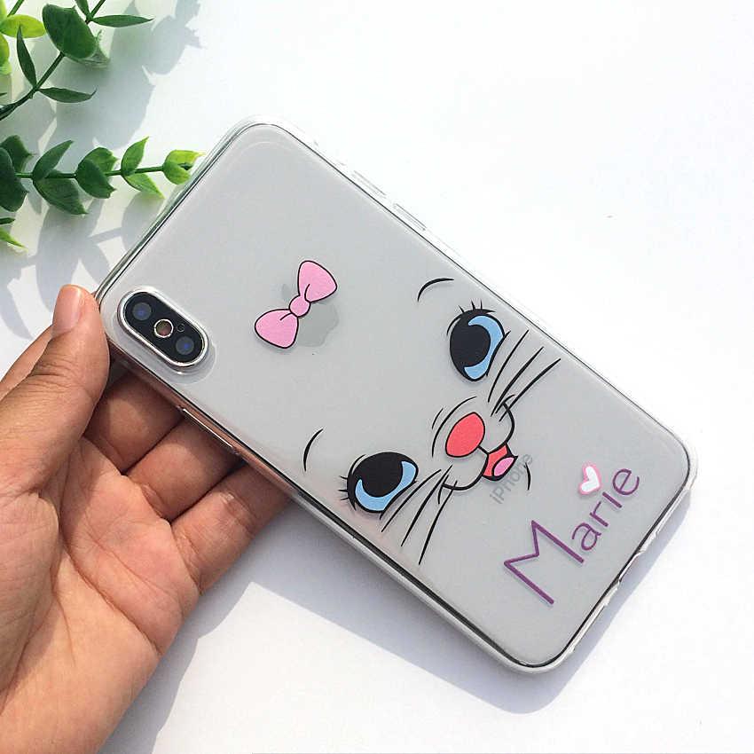 1a92c160e98 ... Dibujos Animados Mickey Mouse suave TPU silicona transparente funda de  teléfono para Apple iPhone X XS ...