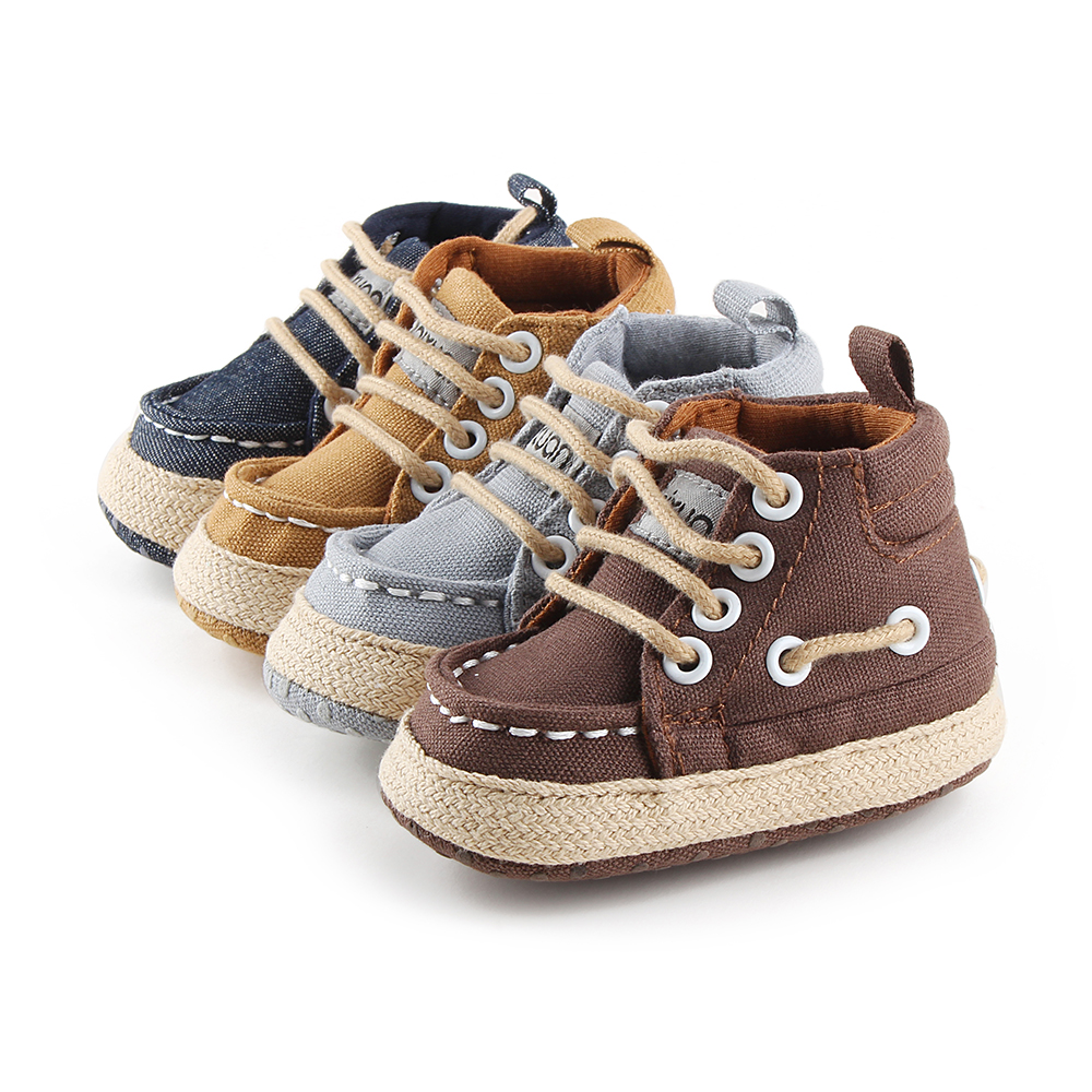 Delebao Lace up Sneaker Baby Boy Shoes Have Qualitative Feeling Spring Autumn First Walkers
