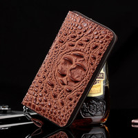 High Grade Alligator Pattern Genuine Leather Men Zipper Clutch Bag Casual Fashion Long Men Wallet Business Brown Men's Purses