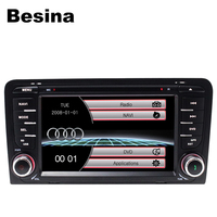 Besina Wholesale Two Din 7 Inch Car DVD Player For Audi A3 S3 2002 2011 Canbus