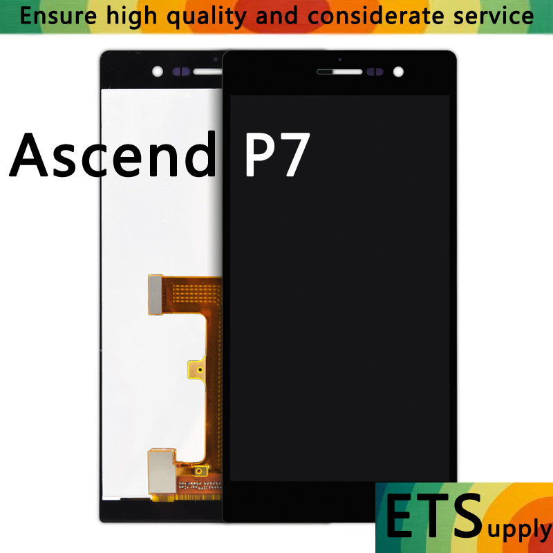 A+ Quality For Huawei P7 LCD Touch Screen Display Digitizer Glass Panel Replacement For Huawei Ascend P7 5.0 Phone