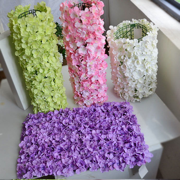 Wedding Arch Flowers Diy: 60*40cm Hydrangea DIY Wedding Arch Setting Wall Decoration