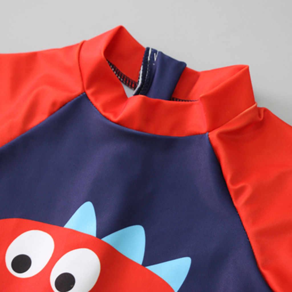2019 Kind Baby Boy Korte Mouwen Dinosaurus baden Zwembad Strand Badmode + Cap Outfit Set 2019 Nieuwe Mode Zwemmen Set voor Kids
