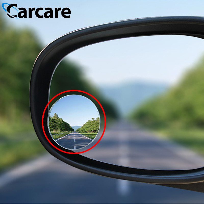 Universal Car Mirror 360 Degree Rotation Adjustable Framless Blind Spot Mirror Auto Round Glass Convex Rear View Mirrors(China)