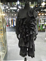 2017 nova primavera mulheres o pescoço moda manga comprida ruffle um pices dress