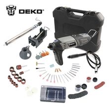 Deko GJ201 220 В 170 Вт ЖК-дисплей переменной Скорость роторный инструмент Dremel Стиль Электрический Мини дрель w/гибкий вал и 3 комплекта выбрать